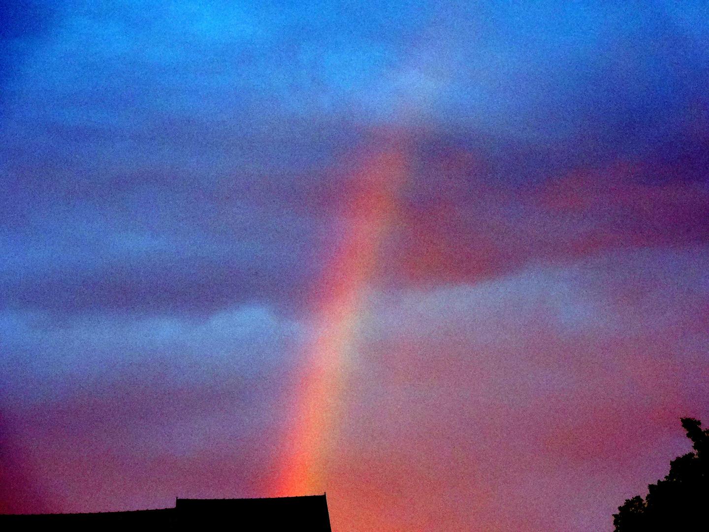 Regenbogen in Erfurt bei Garrettkonzert