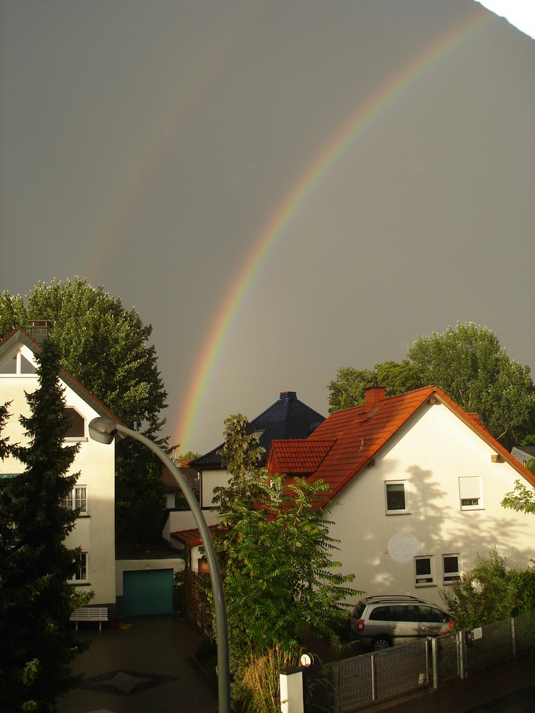 Regenbogen in Kriftel am 7.7.2008