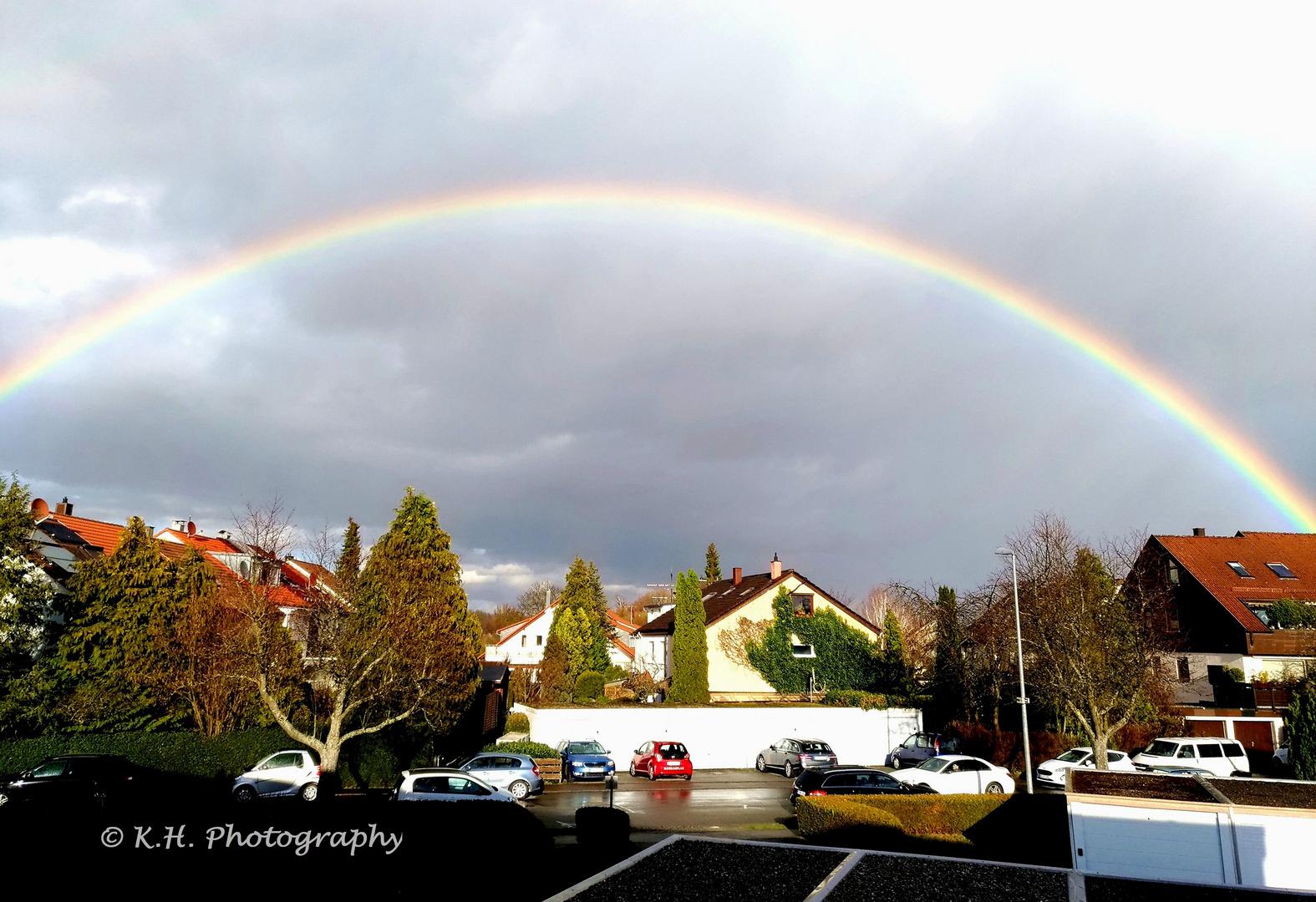 Regenbogen in Wolfschlugen 10.03.2019 16:32h