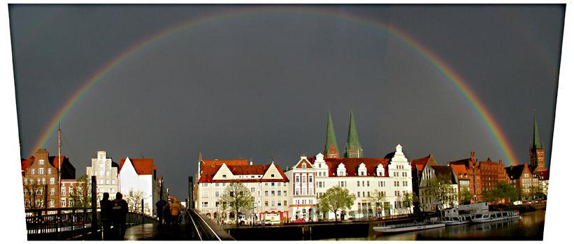 Regenbogen -Panorama, Lübeck, 1. Mai