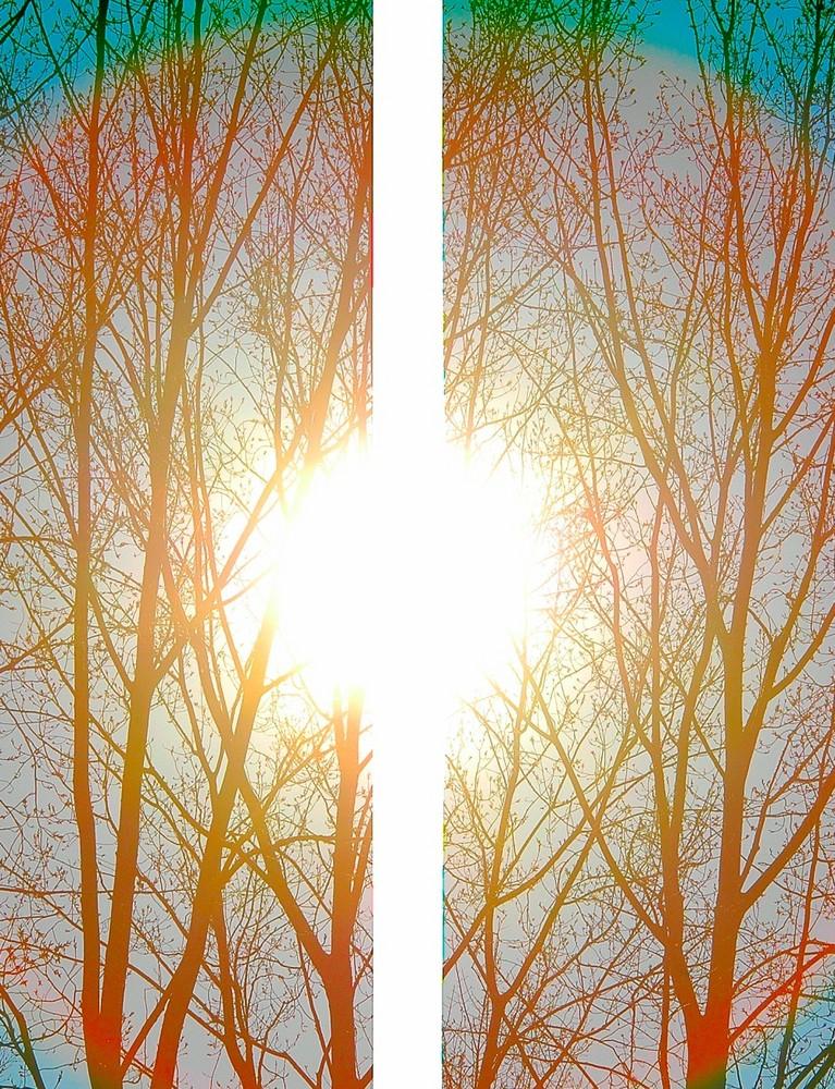 Regenbogen-Sonne