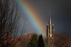 Regenbogen statt Schnee - Winter 2012 in Königsee
