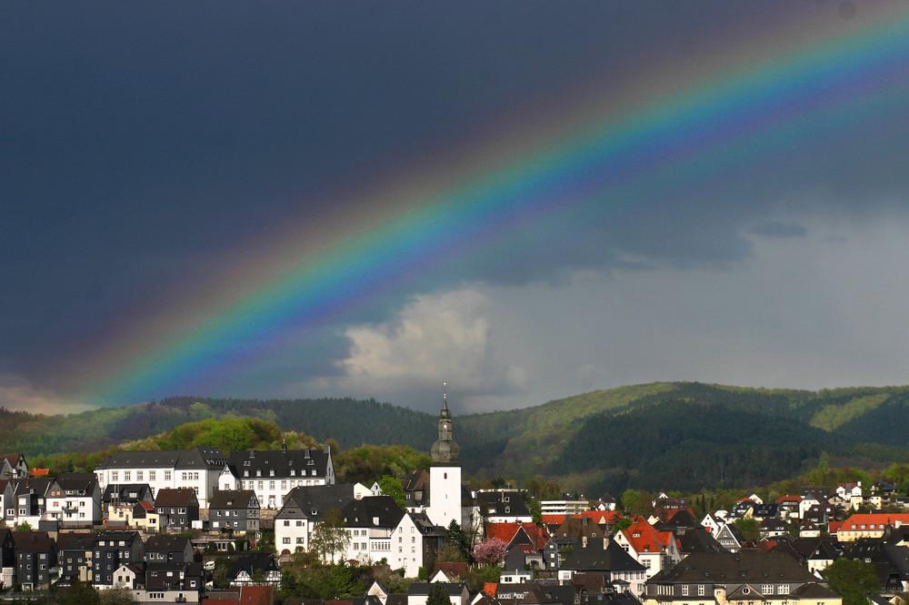 Regenbogen über Arnsberg