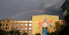 Regenbogen über Berlin Schöneweide