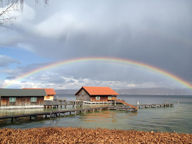 Regenbogen über dem Starnberger See
