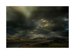 Regenbogen über den Kyle of Tongue
