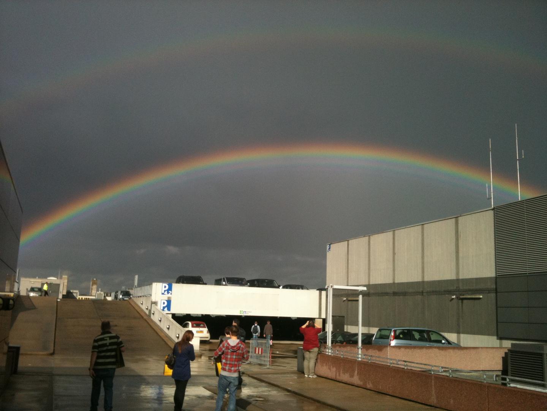 Regenbogen über der Fotokina