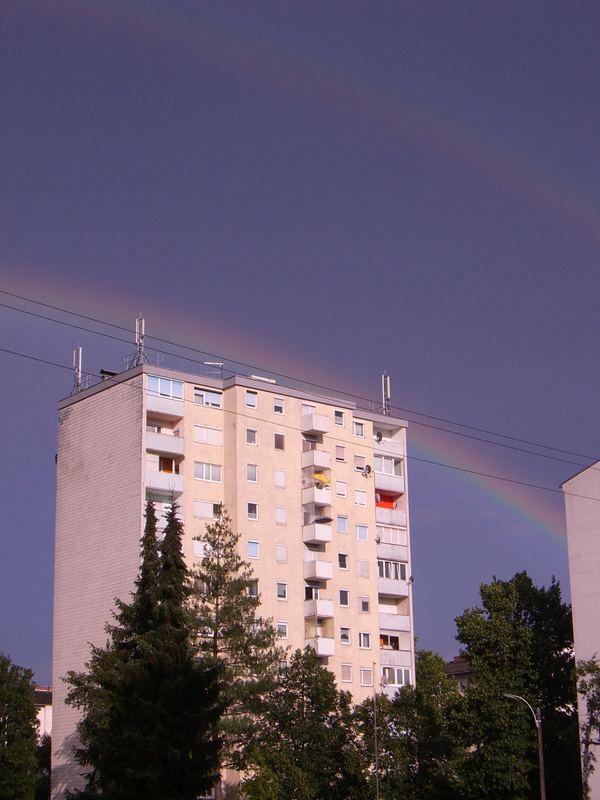 Regenbogen über Graz-Gösting