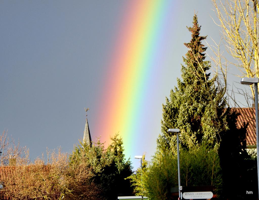 Regenbogen über Kochendorf am Heiligen Abend