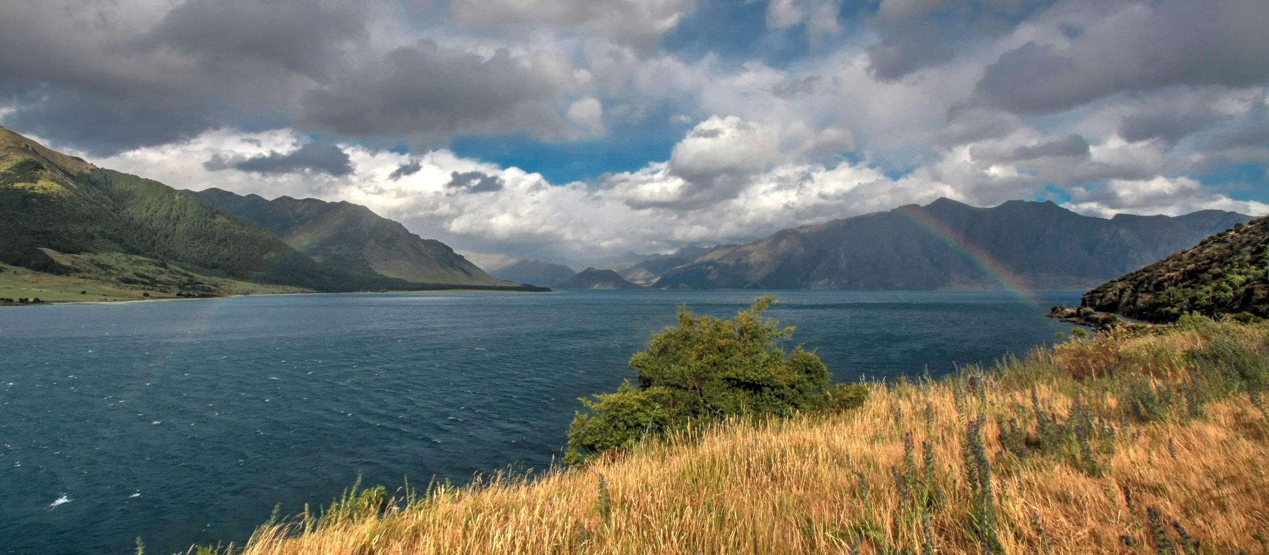 Regenbogen über Lake Wawea NZ