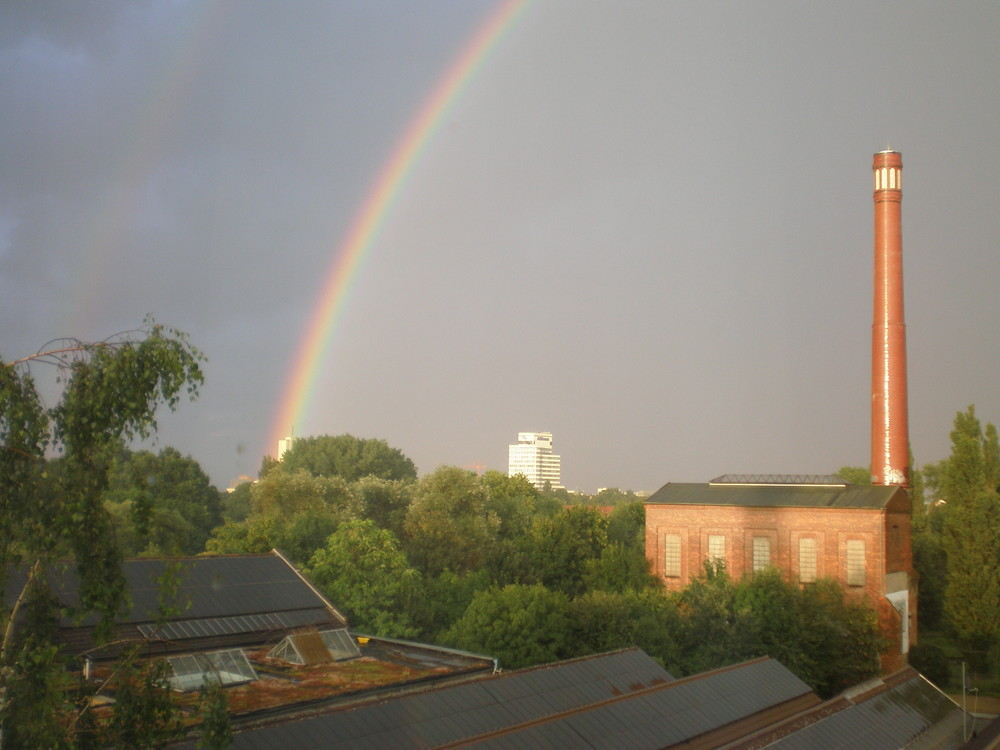 Regenbogen über Linden-Nord