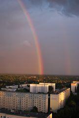 Regenbogen über Marzahn