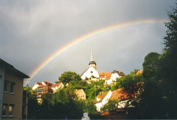 Regenbogen über meiner Heimatstadt