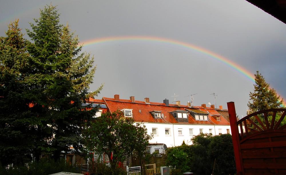 Regenbogen über Saarbrücken