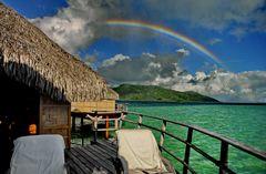Regenbogen über Tahiti