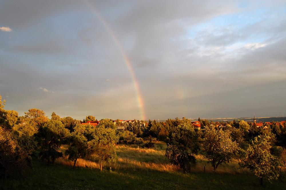 Regenbogen über Weinböhla