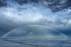 Regenbogen über Westerhever