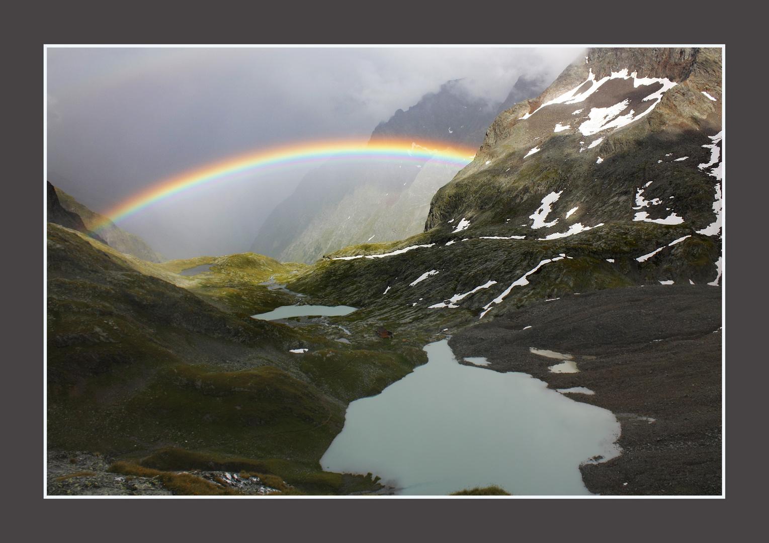 Regenbogen übern Gradental Hohe Tauern