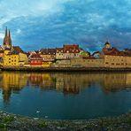 Regenburg Panorama aus 6 Bildern hochkant