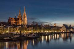 """Regensburg zur """"Blauen Stunde"""""""