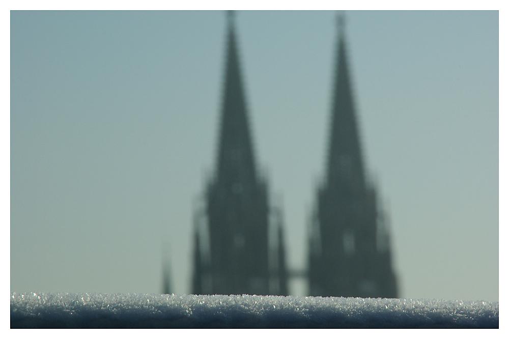 Regensburger Dom in der Frostzeit
