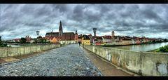 Regensburger Regenwolken Panorama
