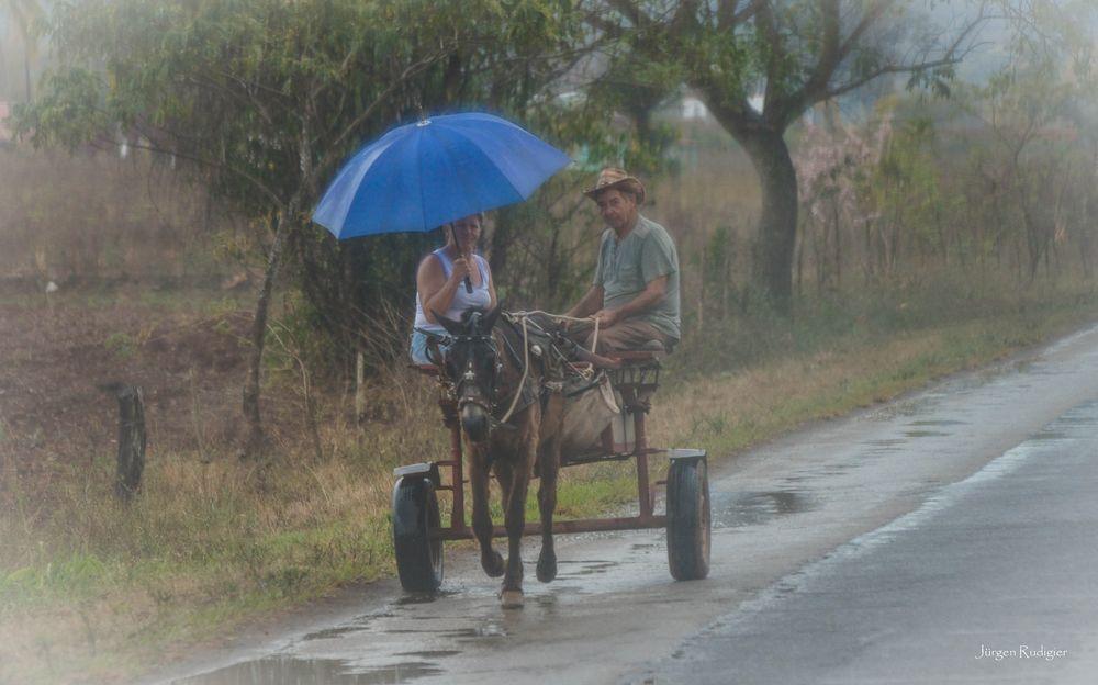 Regenschauer auf Kuba