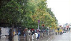 Regenschauer in der Stadt