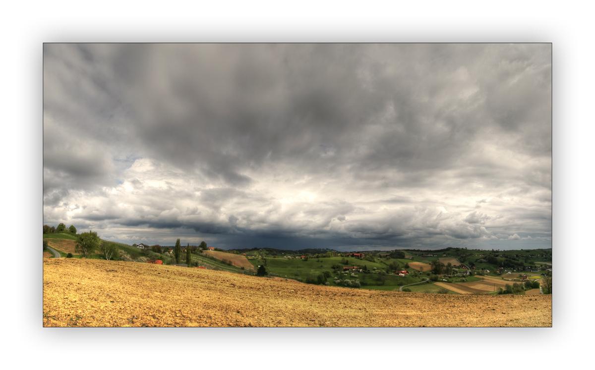 Regenschauer über der Südoststeiermark