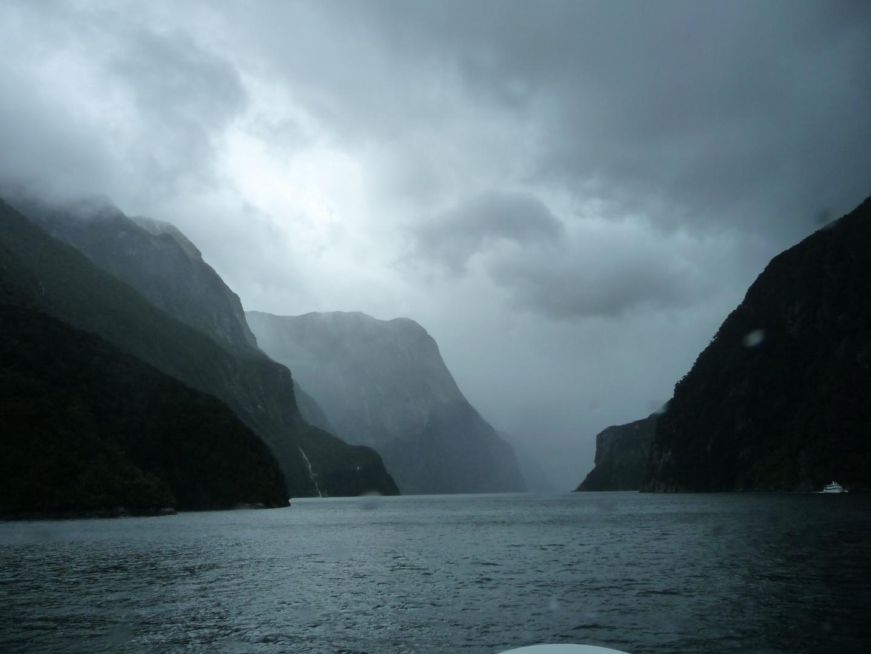Regenstimmung am Milford-Sound