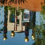 Regenturm im Neckar