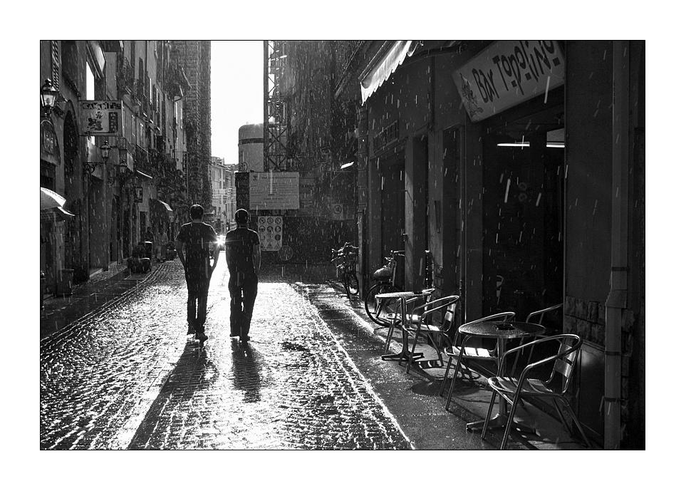 Regenwetter in Brescia (sw)