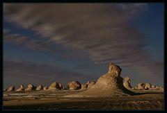 Regenwolken in der Weissen Wüste