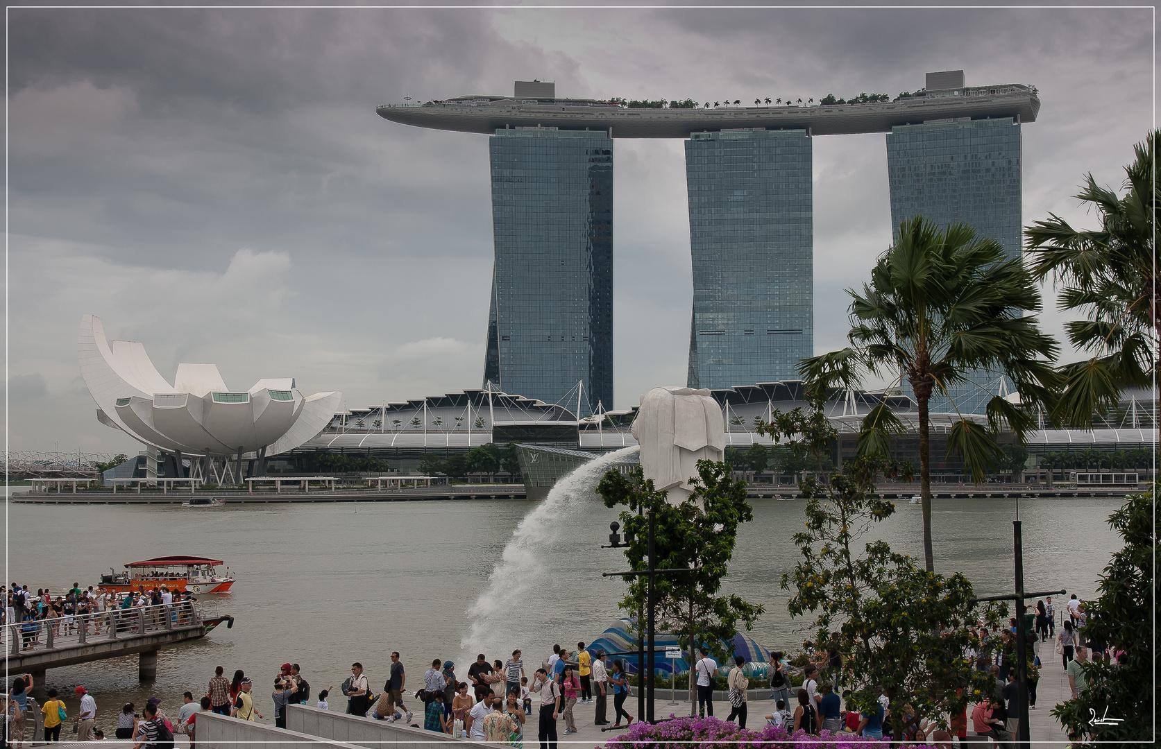Regenzeit in Singapur