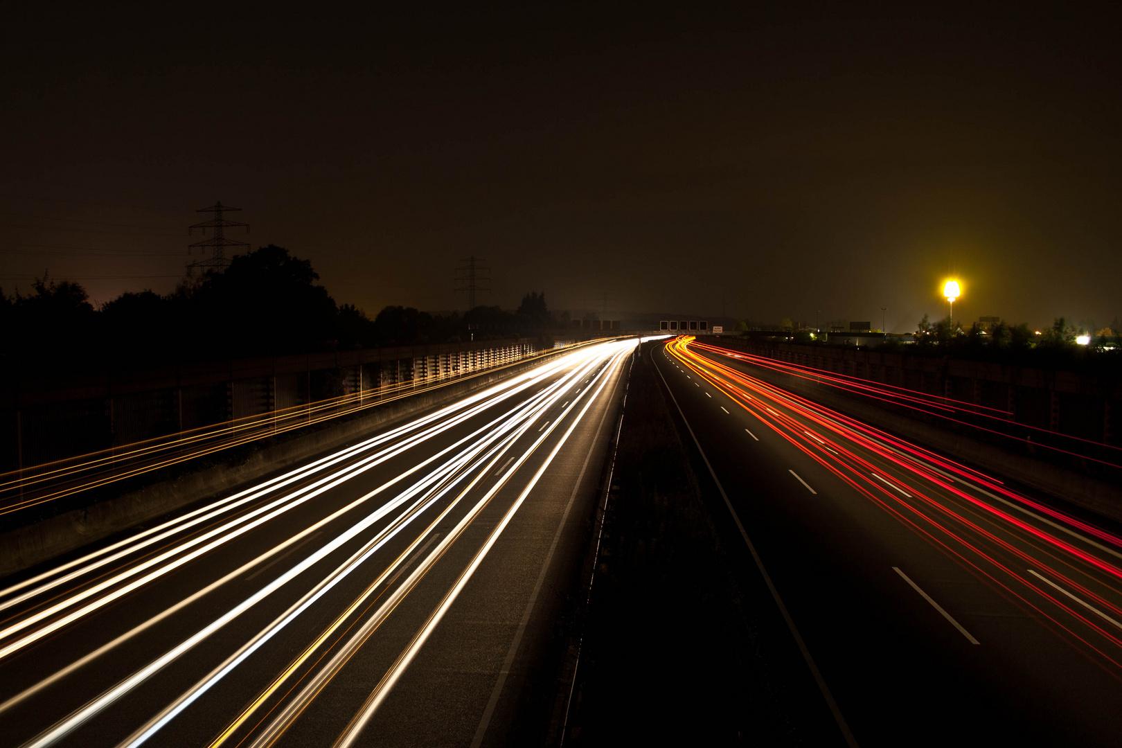 Reger Verkehr auf der A2