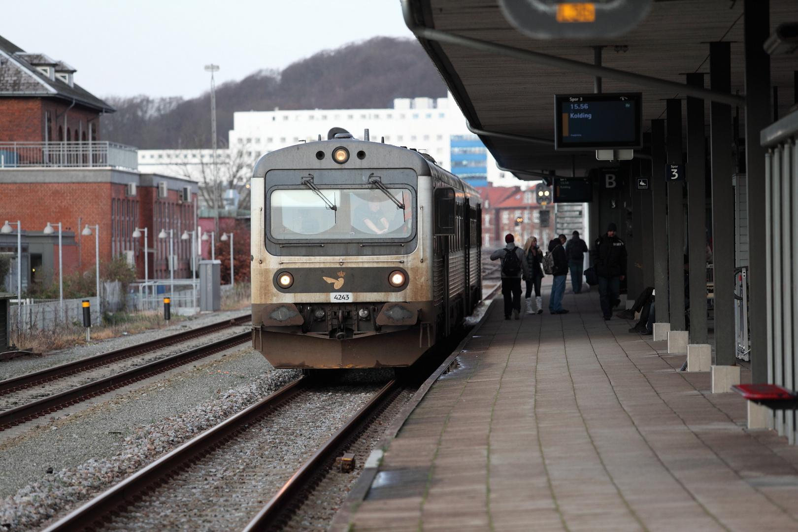 Regionalzug von Vejle nach Kolding