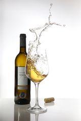 Reh im Weinglas...