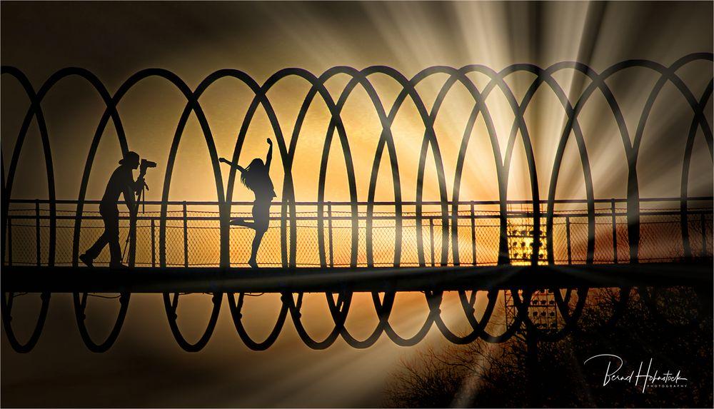 Rehbergbrücke auf Abwegen .....