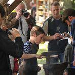 Rehna-Klosterfest 2011, Schmieden für Kinder 01