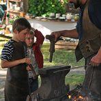 Rehna-Klosterfest 2011, Schmieden für Kinder 04