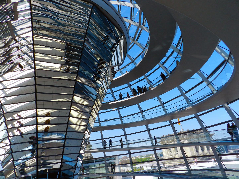 Reichstagskuppel von innen Foto & Bild | architektur ...  Reichstagskuppe...