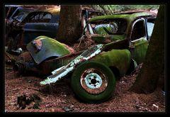 Reifenpanne -  im Tal der toten Autos