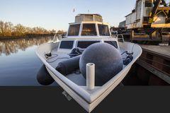 Reifglätte auf unserem Boot