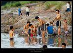 Reinigung am Mekong