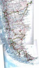 Reisebericht und Karte zur Tour Feuerland- Patagonien 2003