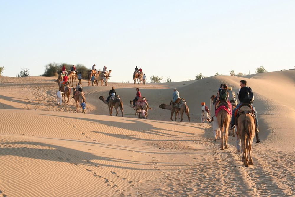 Reisegruppe Kameltour Indien REISEFOTOS Ü1400K