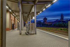 Reisehilfen auf dem Bahnhof Aschersleben