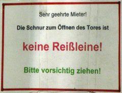 Reißleine...