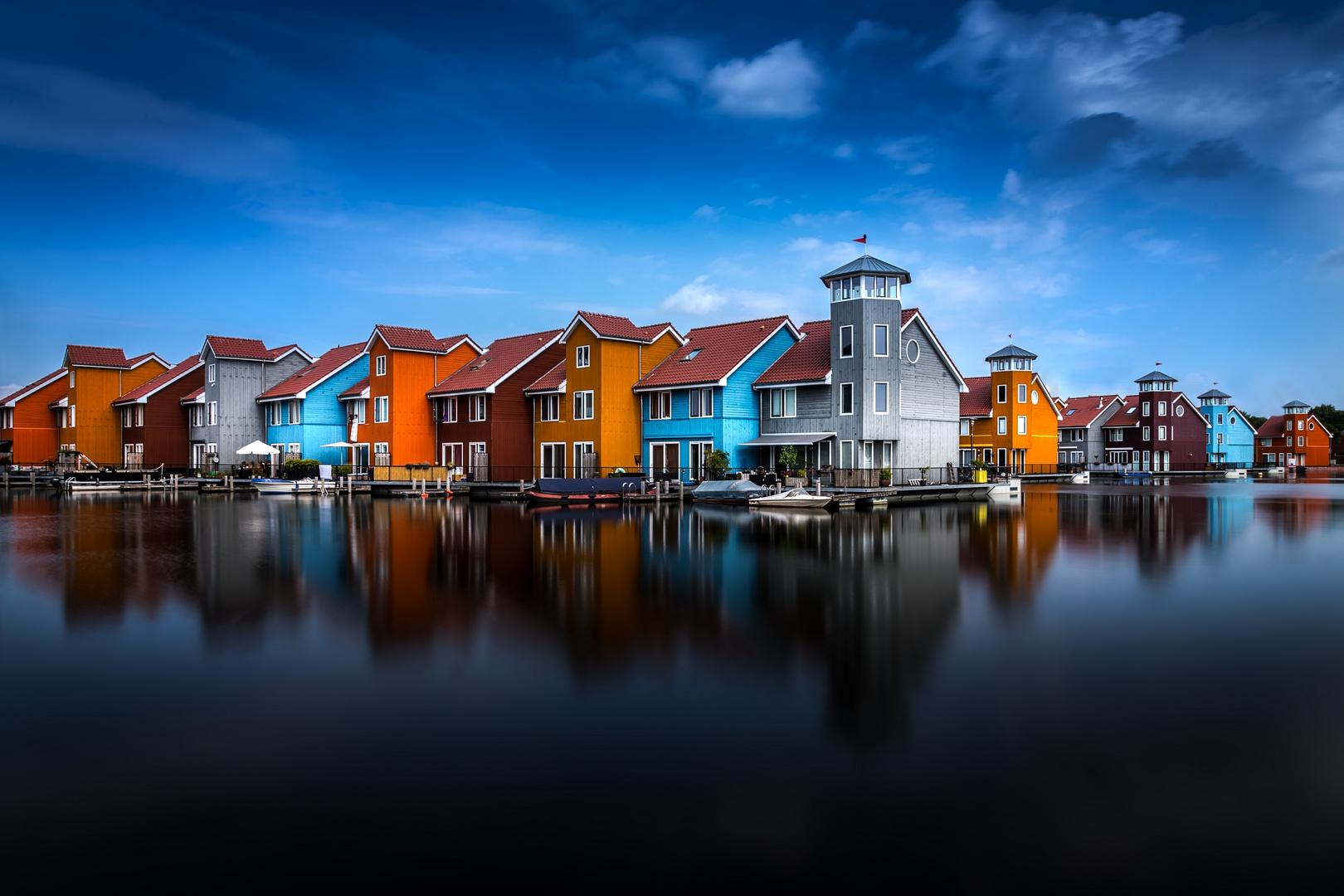 Reitdiephaven in Groningen, Holland