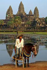 Reiten in Angkor Wat
